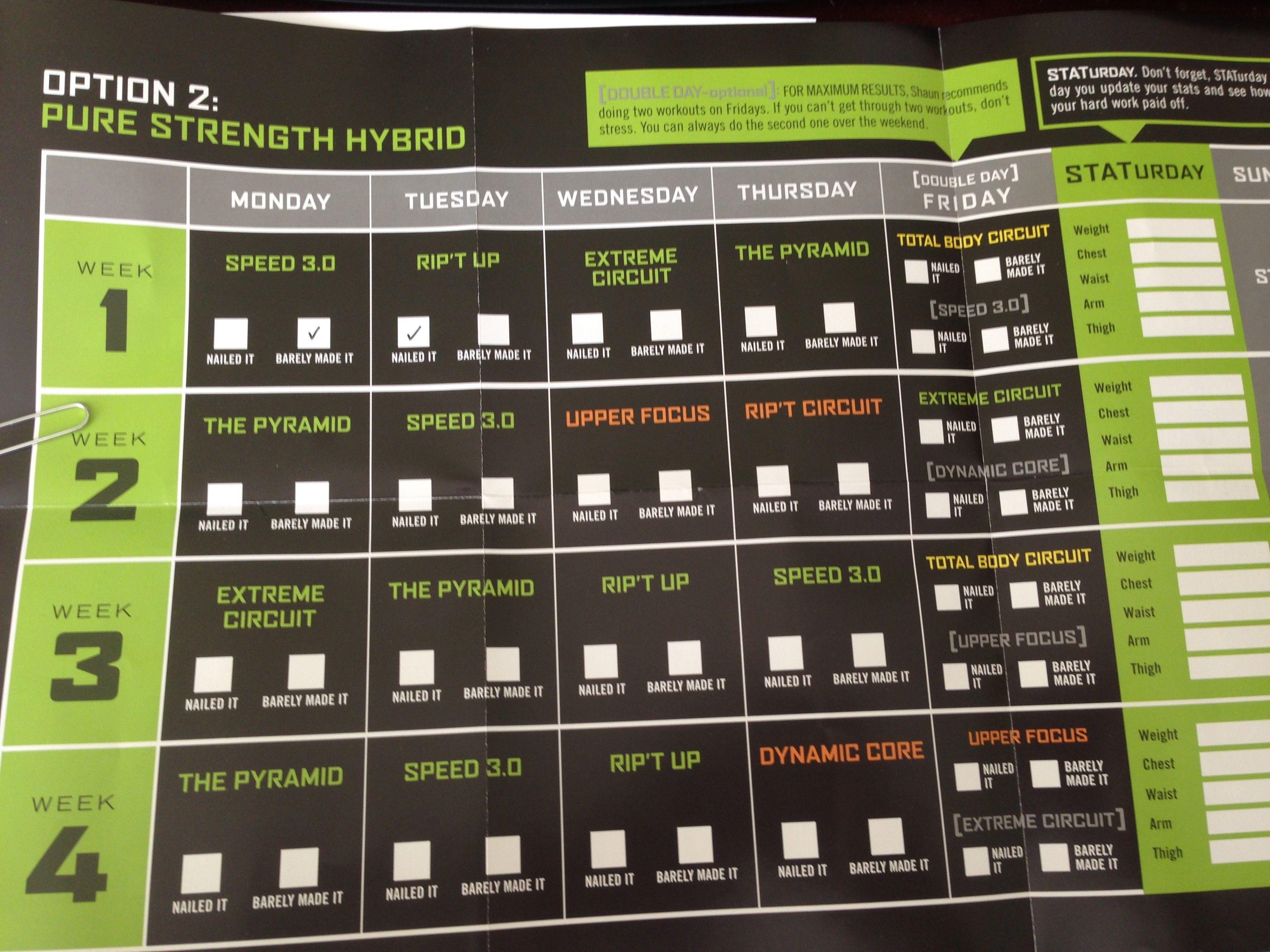 focus t25 gamma pure strength hybrid calendar | Fitness | T25