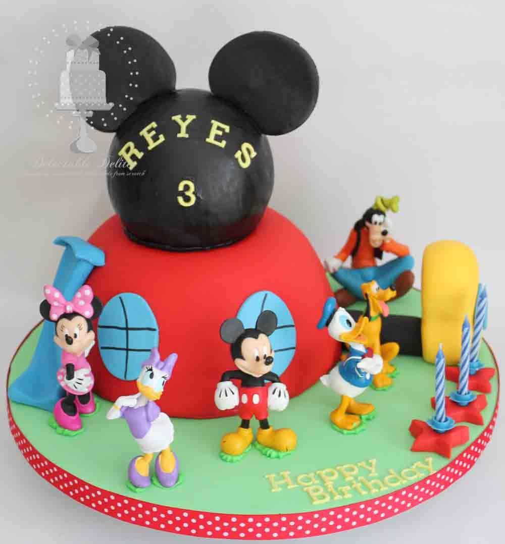 Admirable Mickey Mouse Clubhouse Birthday Cake Mickey Mouse Clubhouse Personalised Birthday Cards Xaembasilily Jamesorg
