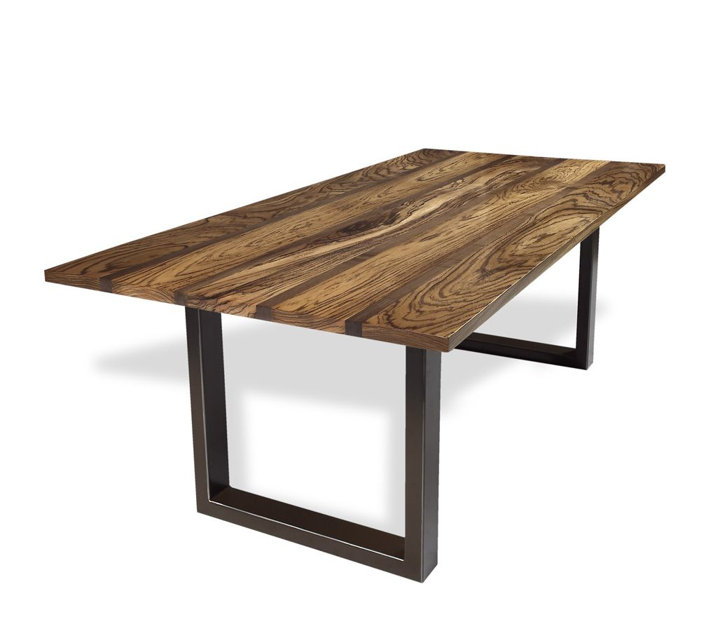 Incredibly High Figured Zebra Wood Top With Walnut Accent