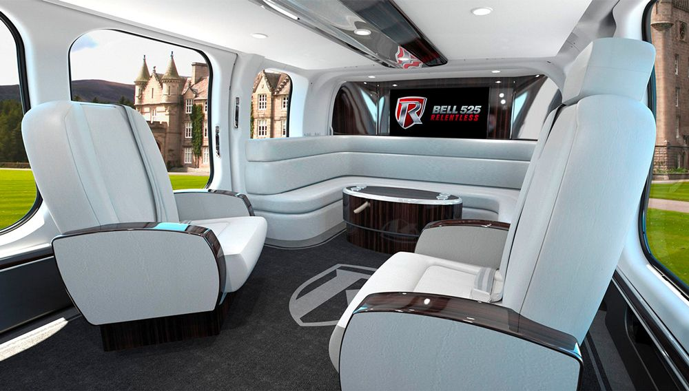 The Bell 525 Relentless Helicopter Cabin Is Worthy Of A Bond Villain