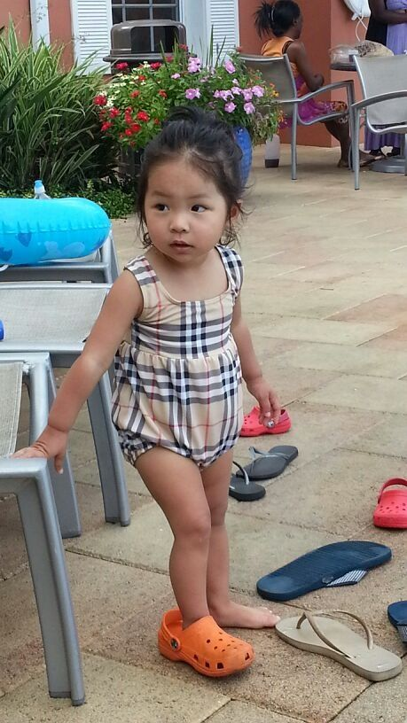 Baby Girl Burberry Swimsuit