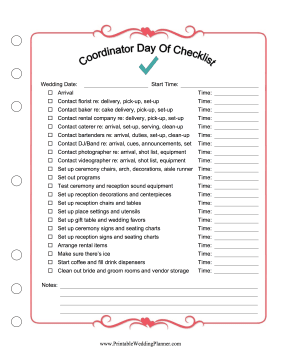 Before The Ceremony And Reception A Wedding Planner Or Day Of Coordinator In 2020 Wedding Reception Checklist Wedding Coordinator Checklist Wedding Ceremony Checklist