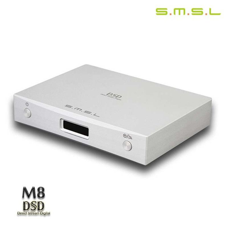 SMSL M8 DSD DAC Optical/Coaxial/ XMOS USB Asynchronous ES9018K2M 24Bit / 384KHz Digital Decoder Aluminum Enclosure New Version