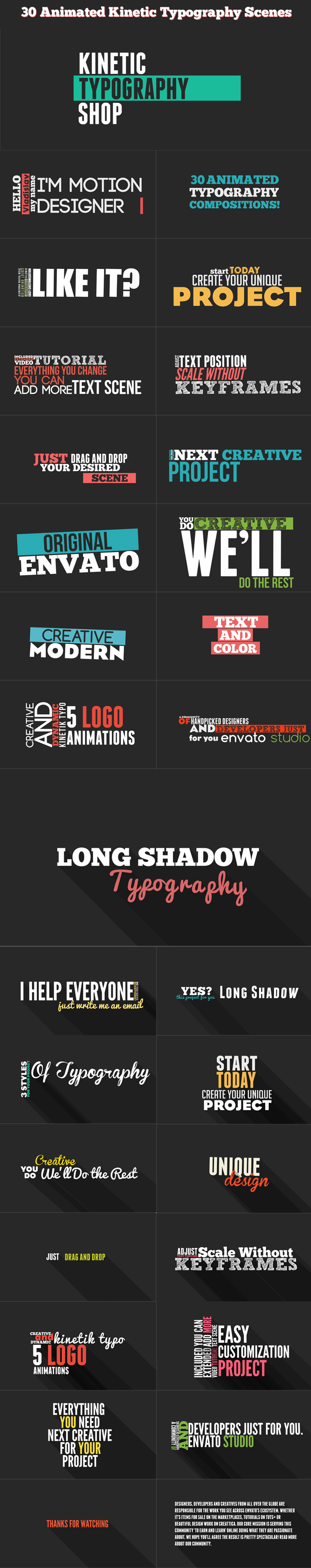 Kinetic Typography Shop | Typography, Template and Motion design