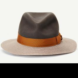 6530af68155 The Loyalist   wool and brim  paper straw wide brim fedora Women s hat with  2 brim