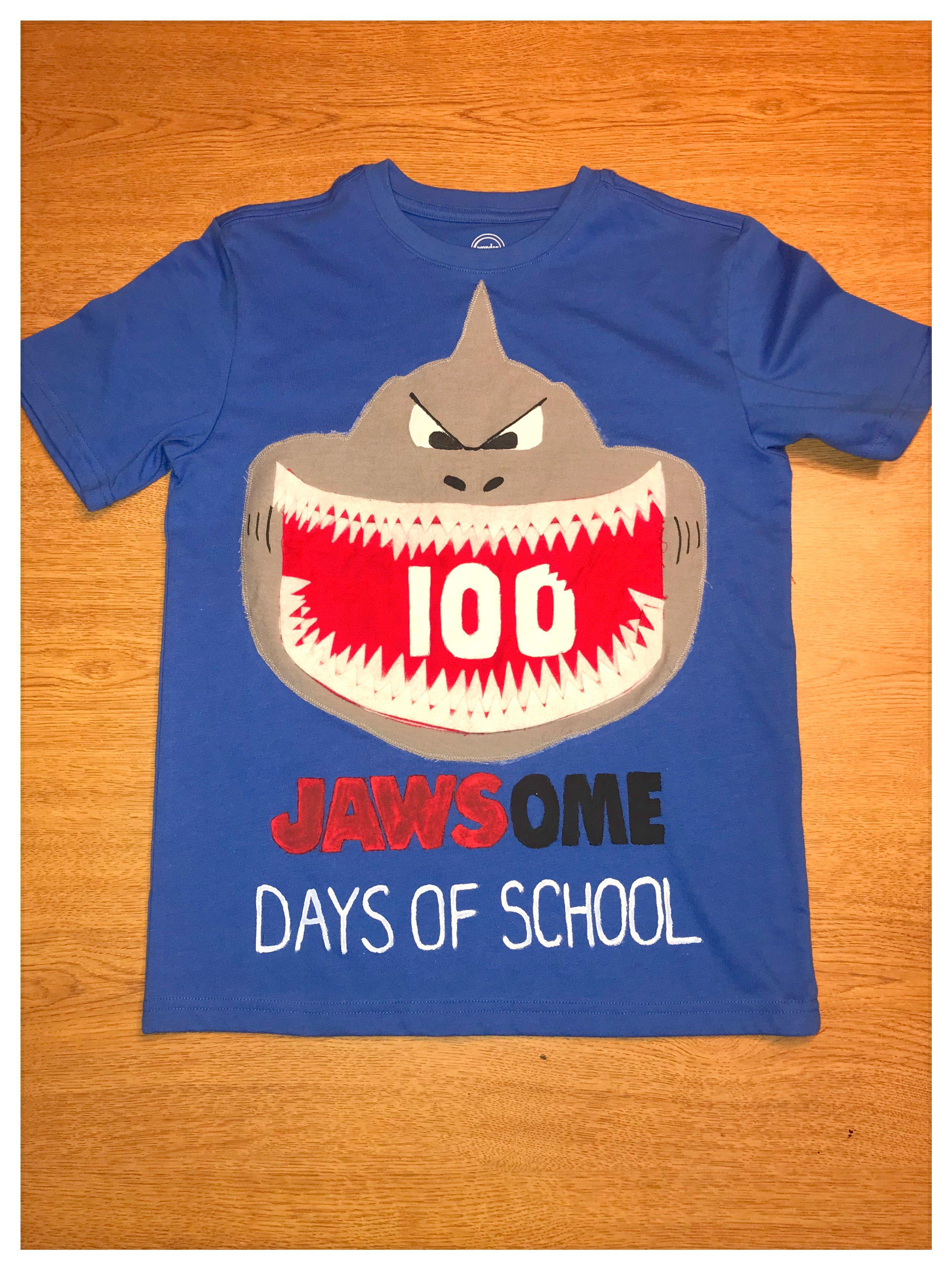 100 Jawsome Days Of School Shark Shirt 100 Day Shirt Ideas 100