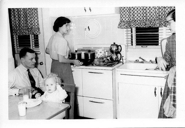 Dinner Time in 1950's Suburbia