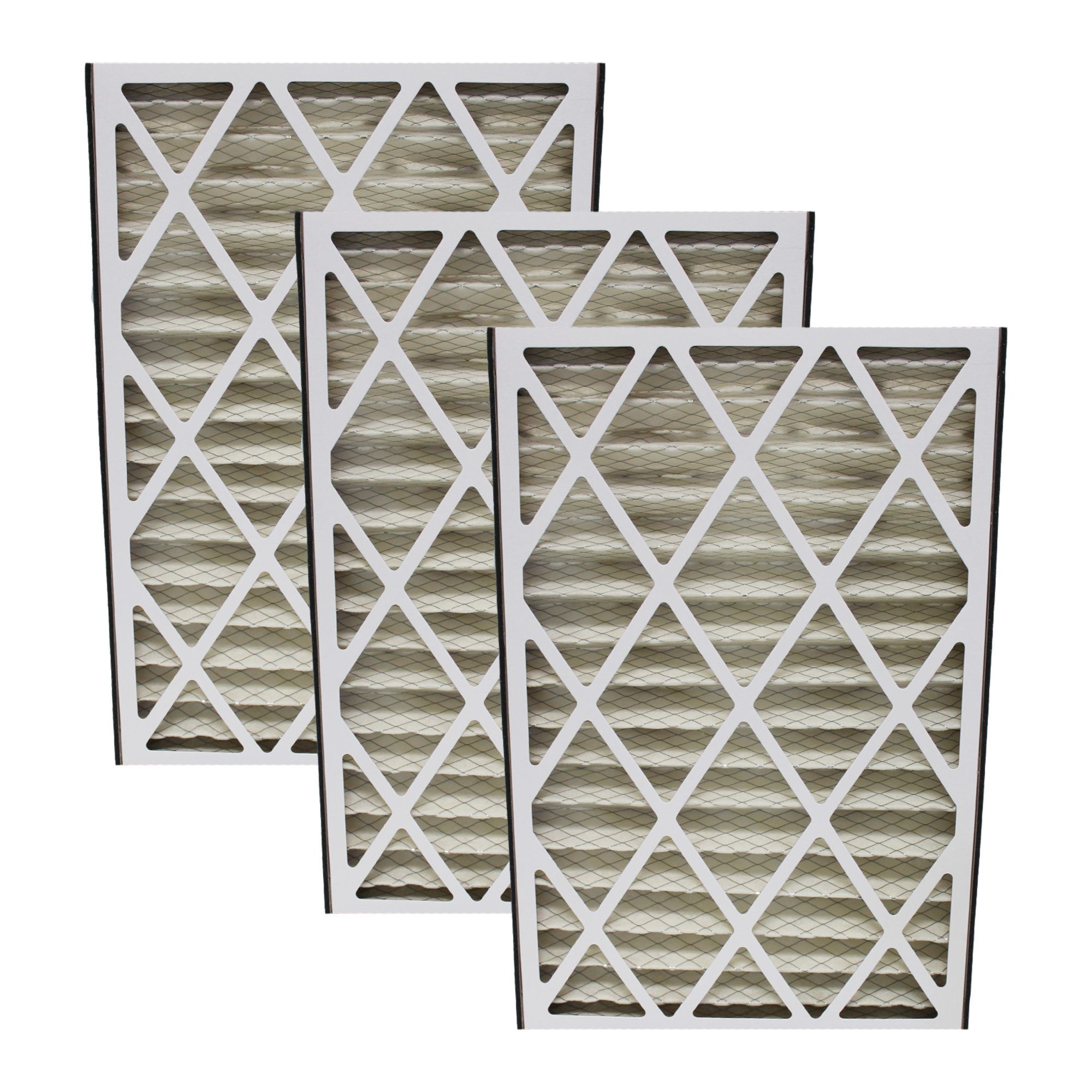 3pk Replacement 16x25x3 MERV8 HVAC Furnace Filters, Fits