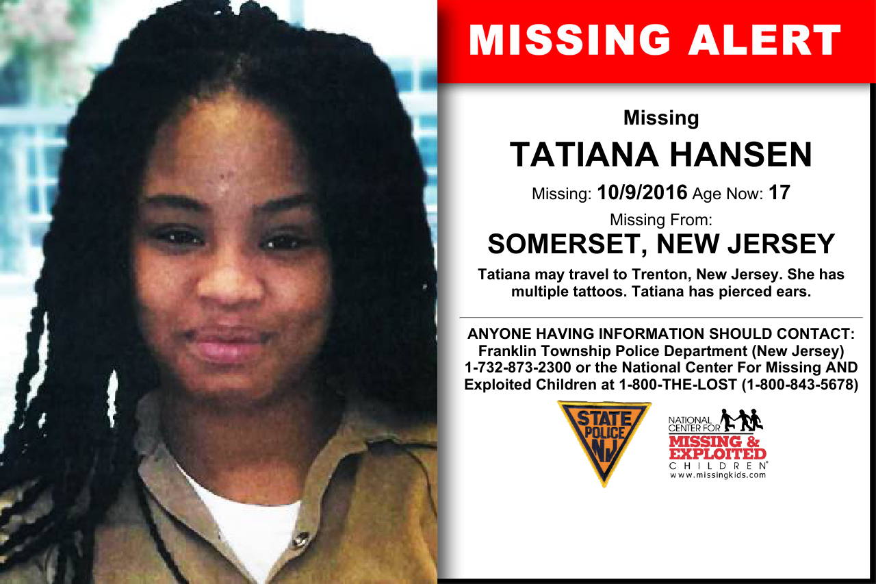 TATIANA HANSEN, Age Now: 17, Missing: 10/09/2016  Missing