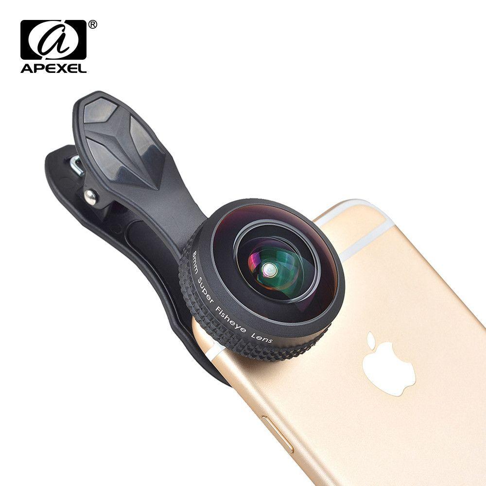APEXEL Lens 8mm 238 degree super fisheye lens, 0.2X full frame no ...