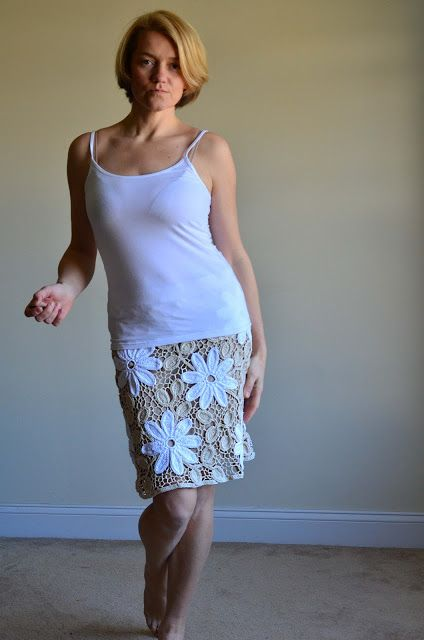 Outstanding Crochet: Irish Crochet skirt.