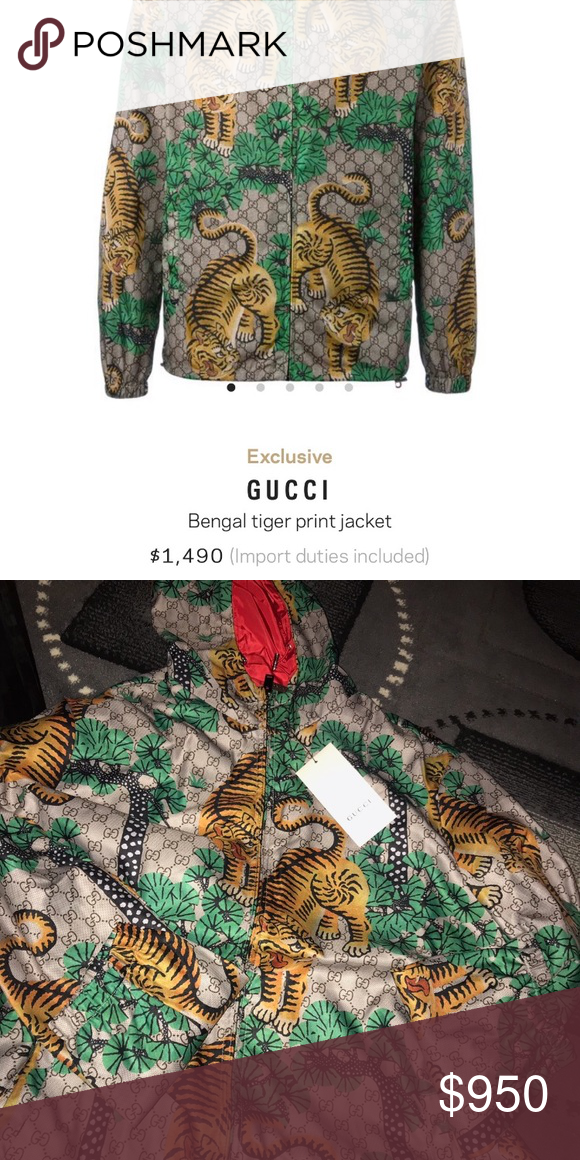 728da6c98 Gucci Bengal Tiger Print Jacket Gorgeous brand new Bengal Gucci Jacket with  Gucci tags attached.