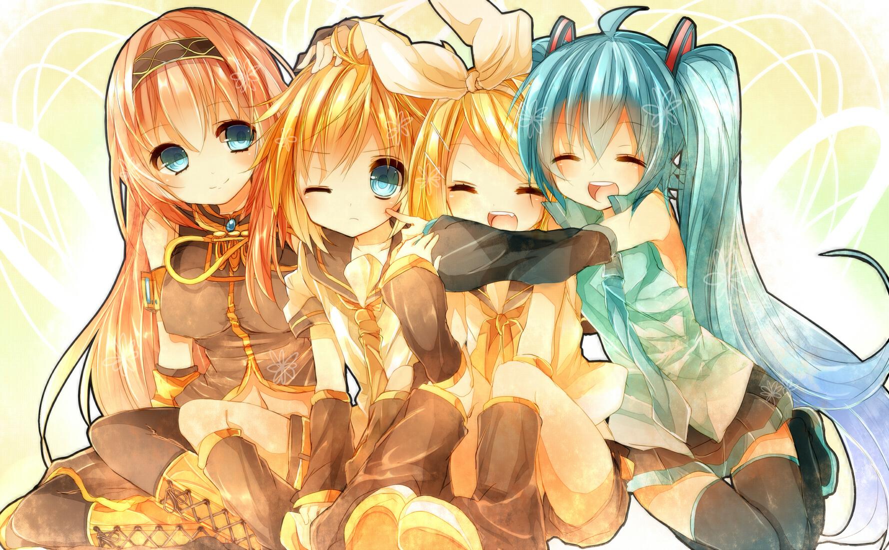 Vocaloid Ruka, Miku, Ren and Lin Vocaloids Pinterest