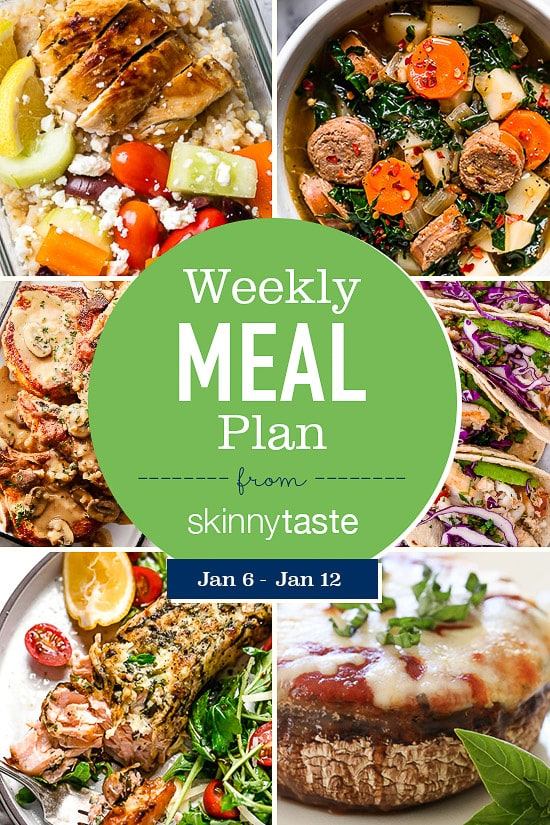 A free 7day flexible weight loss meal plan including breakfast lunch and dinner and a shopping list All recipes include calories and updated WW Smart Points loss plans 20...