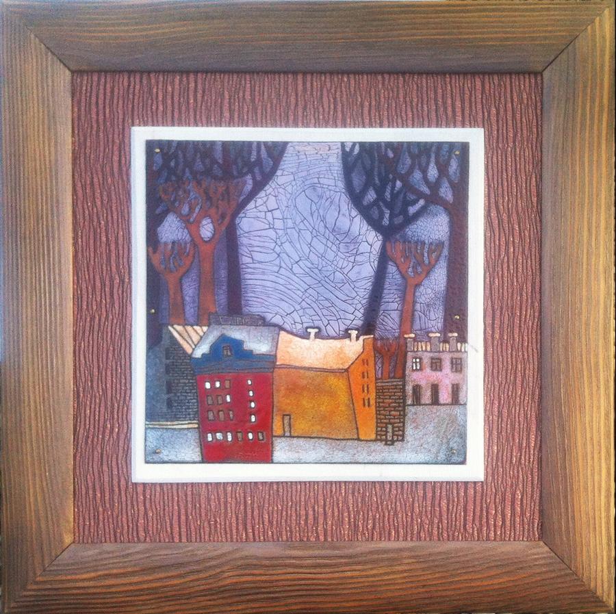Ivan Diakov - het rode huis, 31x31cm, 1450 euro
