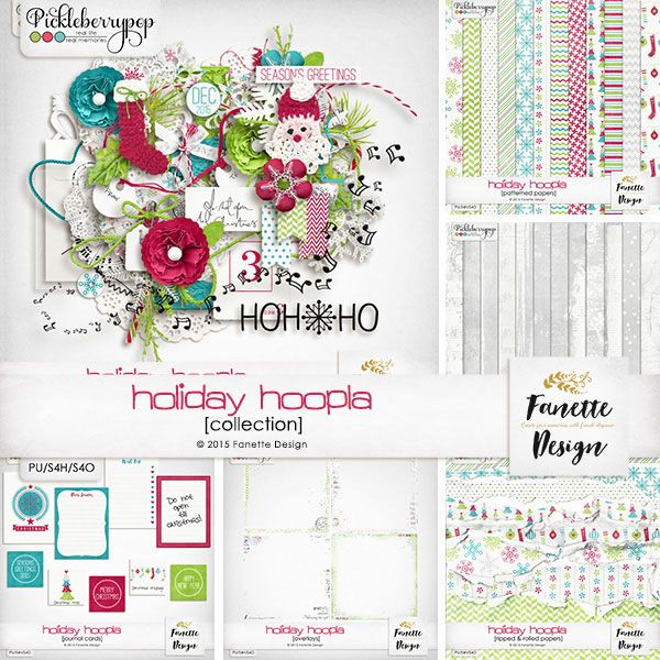 Holiday Hoopla {collection} + FWP By Fanette Designs