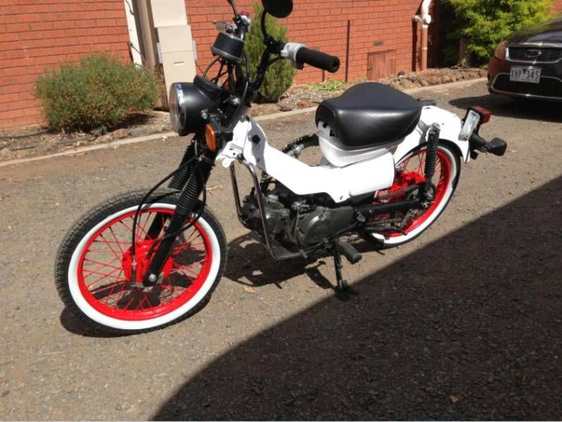 A Clean Red And White Ct110 Custom Custom Designs Pinterest