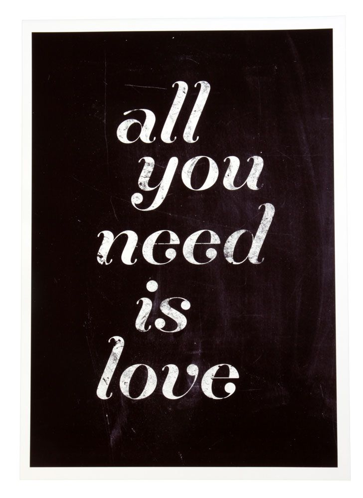All you need is Love  A3