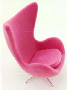 Superbe Pink Egg Chair By Arne Jacobsen | ELF Miniatures