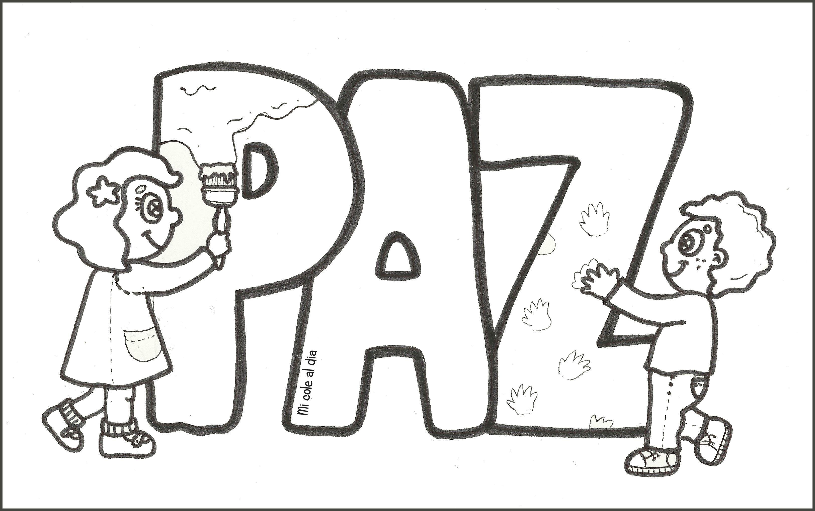 Recursos Educativos Dibujos Para Colorear En El Dia De La Paz