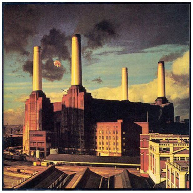 2nd Dec 1976, The first day of the photo shoot for the forthcoming Pink Floyd Animals album cover took place at Battersea Power Station in London, England with a giant inflatable pig lashed between two of the structure's tall towers. More on Animals: http://www.thisdayinmusic.com/pages/animals