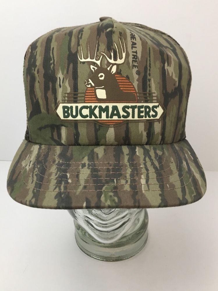 345e760f624 BuckMasters RealTree Camouflage Hat Vintage SnapBack Mesh Trucker Cap Hunter  USA  BuckMasters