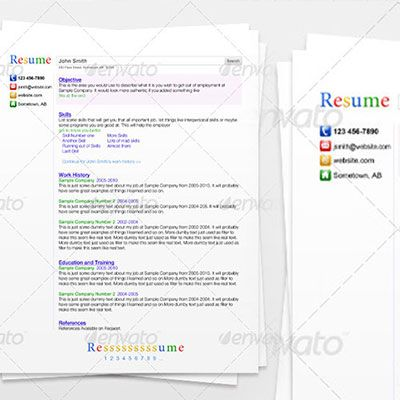 Las 40 mejores plantillas editables para curriculums creativos - resume search engine