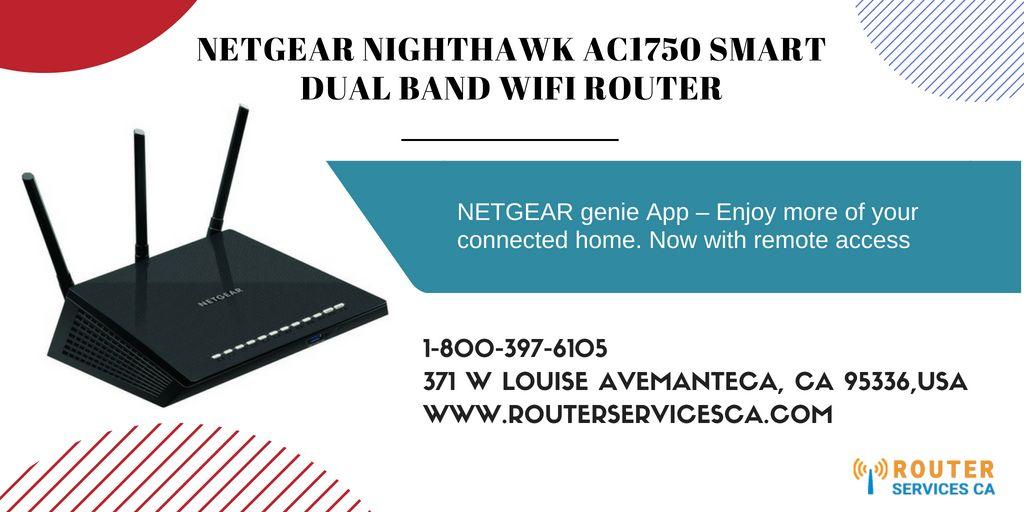 Buy #NETGEAR #NIGHTHAWK #AC1750 SMART DUAL BAND WIFI #ROUTER
