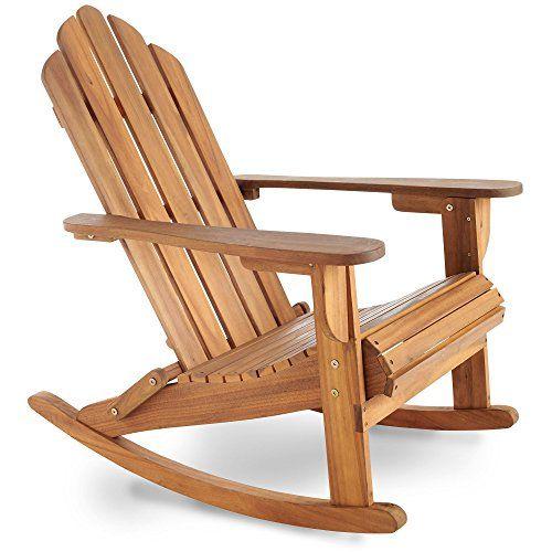 VonHaus Rocking Adirondack Chair - Outdoor Garden Furniture made from Acacia Hardwood with Oiled Finish  sc 1 th 225 & VonHaus Rocking Adirondack Chair - Outdoor Garden Furnitu... https ...