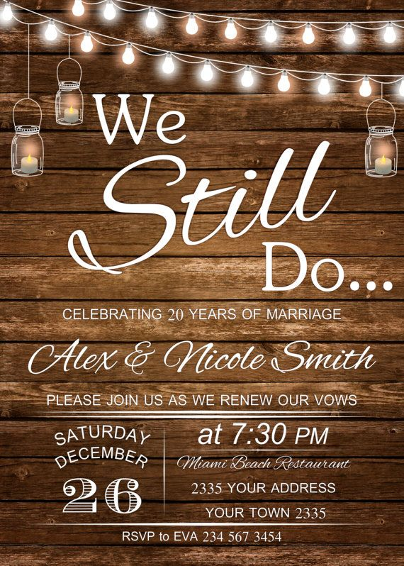 Vow renewal invitation wedding anniversary invitations we still do vow renewal invitation wedding anniversary by nicestudioforyou stopboris Images