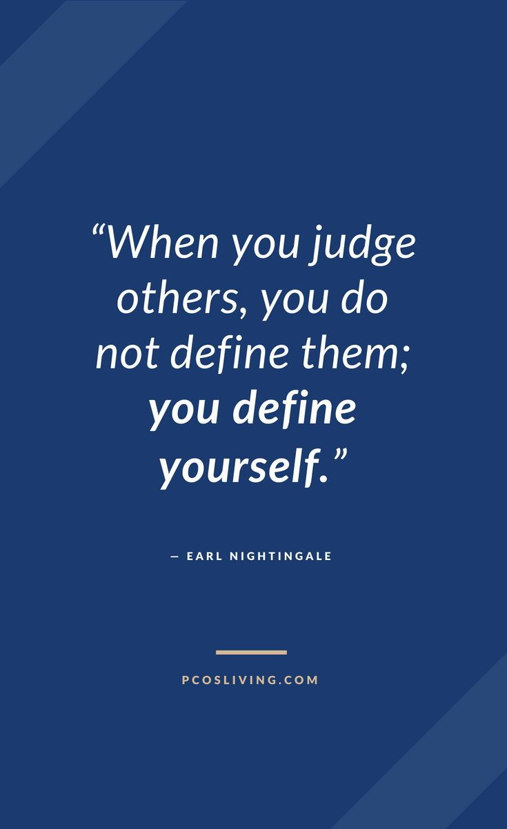Judging others says more about you than the other person ...