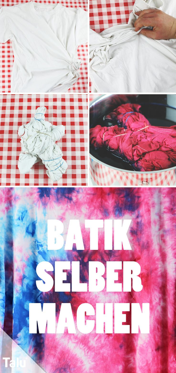 batik selber machen diy anleitung f r t shirts batikfarben diy ideen basteln und. Black Bedroom Furniture Sets. Home Design Ideas