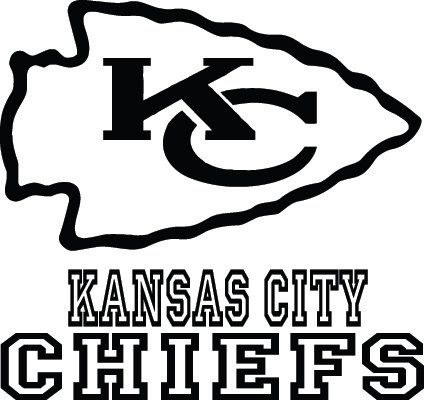 Kansas City Chiefs Football Logo Name Custom By Vinylgrafix