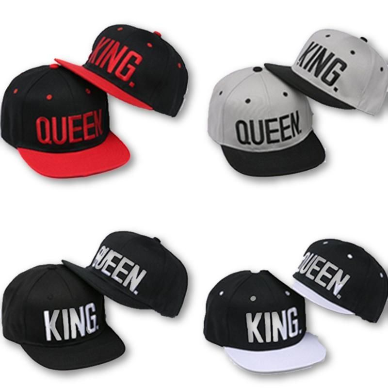 8ef7cb80ccc King   Queen 4 Colors Baseball Caps