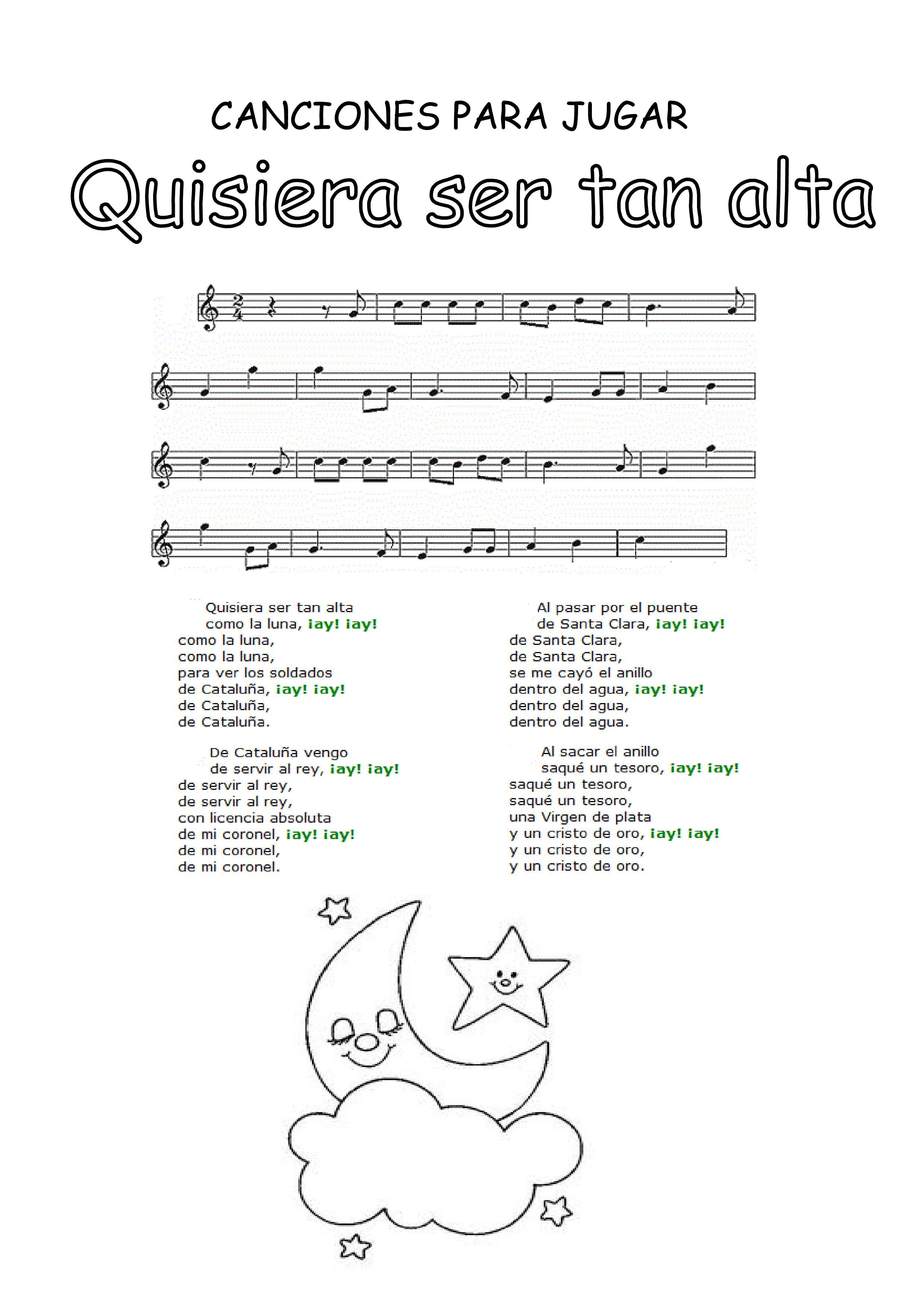 Pin De Milagros Montes Machuca En Canciones Para Jugar Letras De Canciones Infantiles Canciones Canciones Infantiles