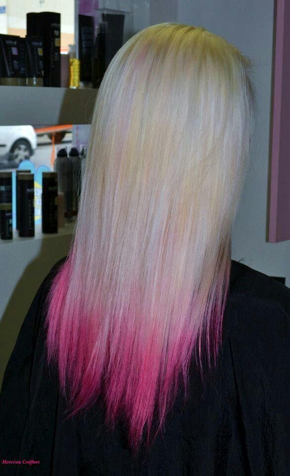 Tie And Dye Realise Au Salon Herveou Coiffure A Brest Hair Styles Hair Long Hair Styles