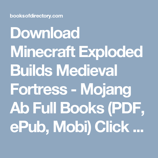 Download Minecraft Exploded Builds Medieval Fortress Mojang Ab - Mojang net minecraft namen andern