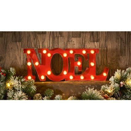 313013 Noel Red Metal Words1 Cheap Christmas Lights