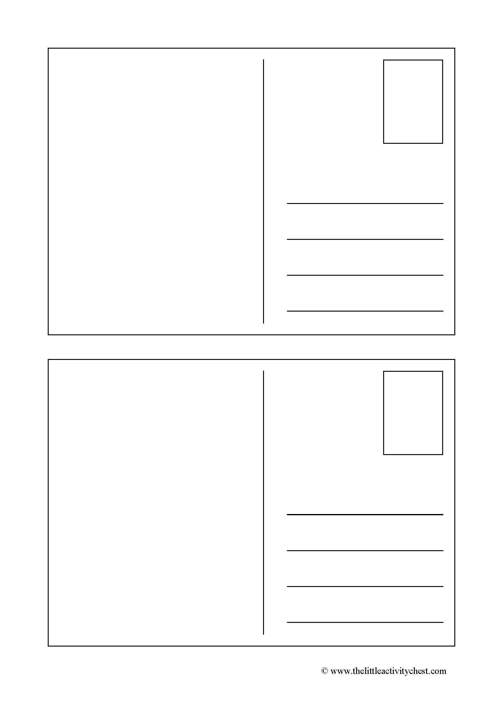 оборот почтовой открытки шаблоны как