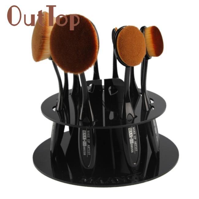 $4.91 (Buy here: https://alitems.com/g/1e8d114494ebda23ff8b16525dc3e8/?i=5&ulp=https%3A%2F%2Fwww.aliexpress.com%2Fitem%2F15-10-Hole-Oval-Makeup-Brush-Holder-Drying-Rack-Organizer-Cosmetic-Shelf-Tool-DEC29%2F32786036943.html ) O  10 Hole Oval Makeup Brush Holder Drying Rack Organizer Cosmetic Shelf Tool Dropship for just $4.91