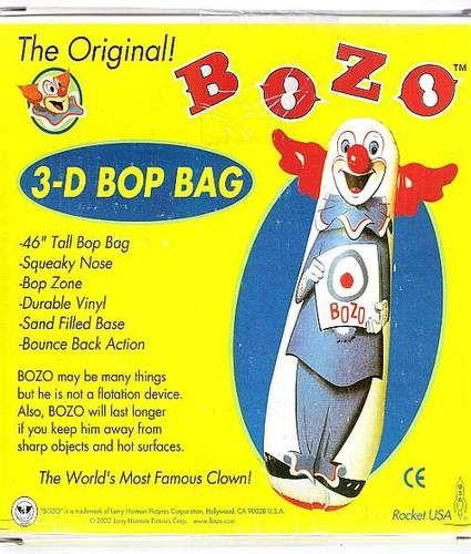 Bozo The Clown Bop Bag Inflatable Punching Toy Bozo The Clown