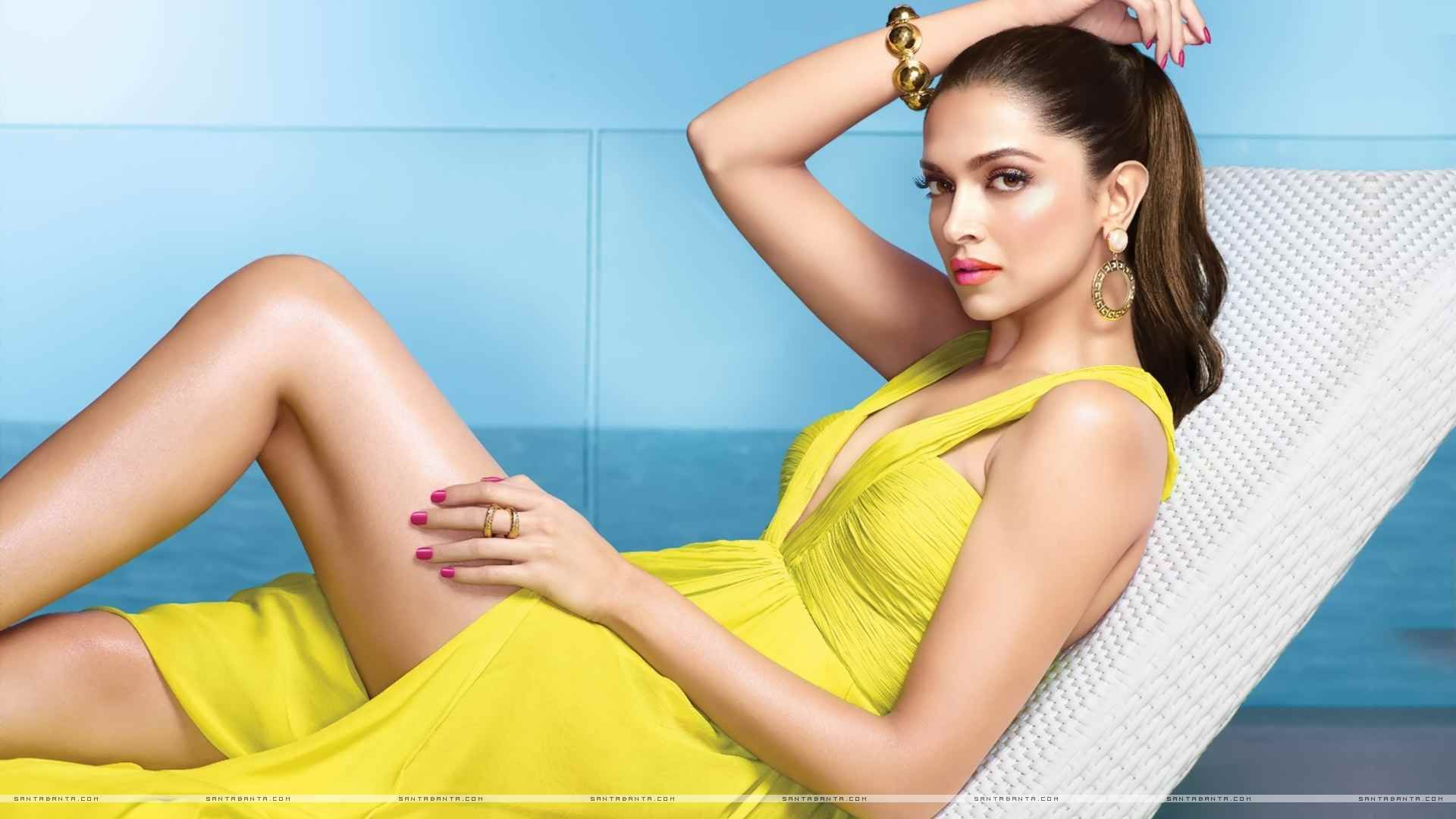 Deepika Padukone Hd Wallpapers 10 Most Beautiful Women Yellow Dress Brunette Celebrities Deepika padukone hd wallpaper for pc