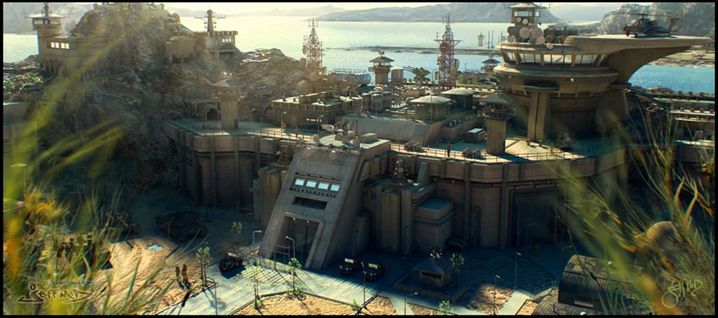 Digimatte Military Base With Images Fantasy Landscape