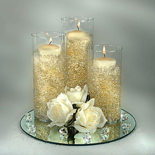 Golden Wedding Centerpieces.So Pretty Angela Gray Gray Schrecengost Centerpieces