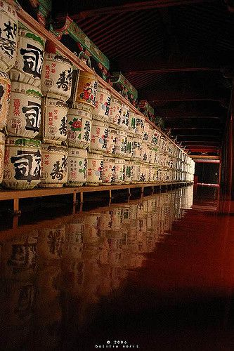 Sake offerings to the temple by basilio noris on Flickr -  Kyoto, Japan
