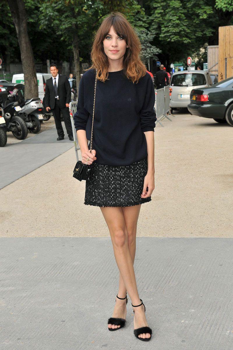 el ABC del estilo de Alexa Chung: prendas de tweed