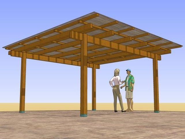 Patio Cover Plans Free Standing Pergola Covered