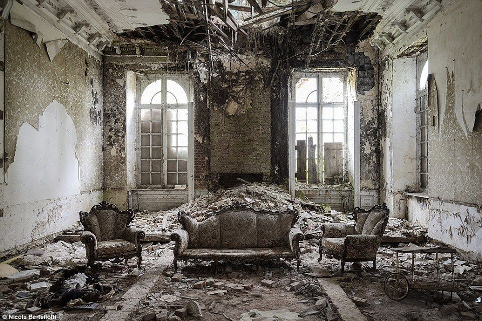 Hidden gems: The extravagant furniture left behind gives a hint of what life was like with...