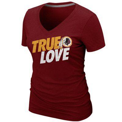 best website 674a7 0e5e1 Nike Washington Redskins Ladies True Love Premium T-Shirt ...