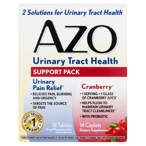 Azo Urinary Tract Health Support Pack 32 Count Pack Of 2 Multi